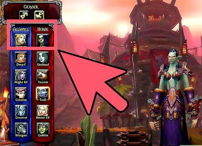 Prent getiteld Kies die beste klas en wedloop vir jouself in World of Warcraft Stap 1