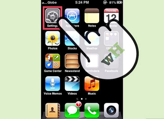 Prent getiteld Verwyder toepassings van die Outomatiese Backup-funksie in iCloud Stap 1