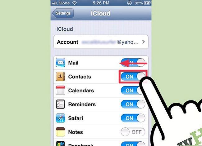 Prent getiteld Verwyder toepassings van die Outomatiese Backup-funksie in iCloud Stap 3
