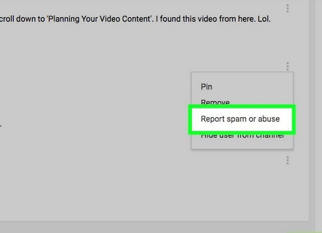 Prent getiteld Verwyder kommentaar op YouTube Stap 9
