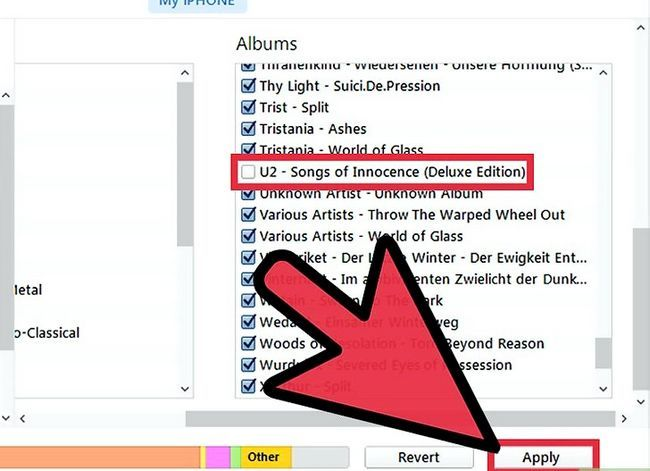 Prent getiteld Verwyder die Free U2 Album van jou iPhone Stap 5