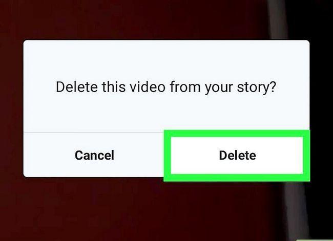 Prent getiteld Verwyder jou storie op Instagram op Android Stap 5