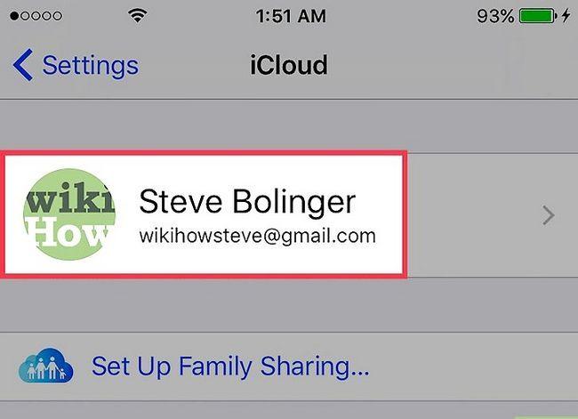 Prent getiteld Verwyder `n Apple ID-foonnommer op `n iPhone Stap 3