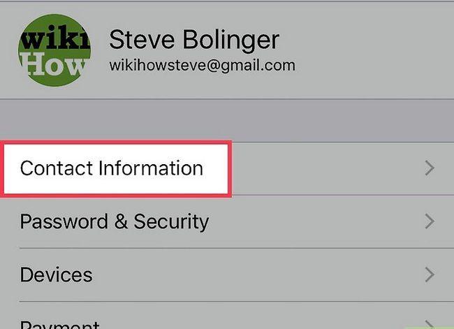 Prent getiteld Verwyder `n Apple ID-foonnommer op `n iPhone Stap 5