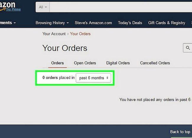 Prent getiteld Verwyder `n Amazon-rekening Stap 2