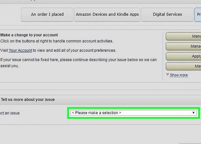 Prent getiteld `n Amazon-rekening Stap 7 verwyder