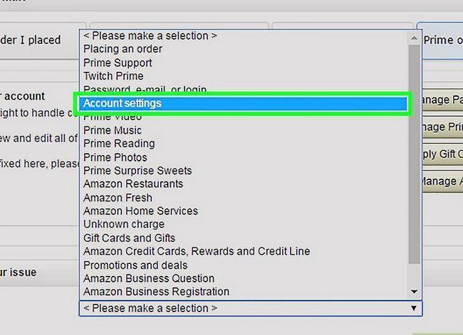 Prent getiteld `n Amazon-rekening Stap 8 verwyder