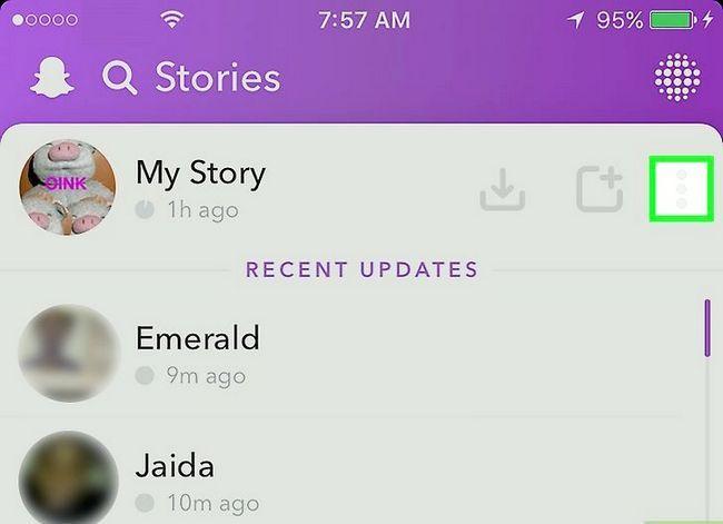 Prent getiteld Verwyder `n Snapchat Story Stap 3