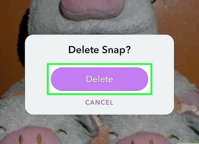 Prent getiteld Verwyder `n Snapchat Story Stap 6