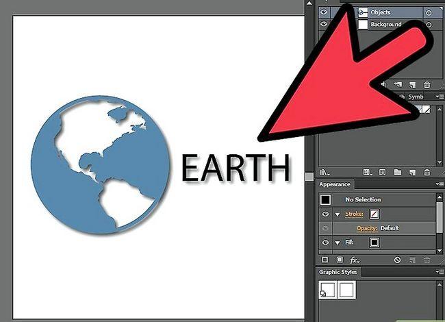 Prent getiteld Verwyder `n Drop Shadow in Adobe Illustrator Stap 1