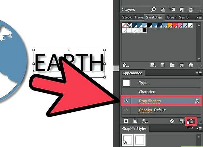 Prent getiteld Verwyder `n Drop Shadow in Adobe Illustrator Stap 3