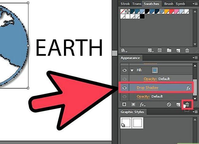 Prent getiteld Verwyder `n Drop Shadow in Adobe Illustrator Stap 5