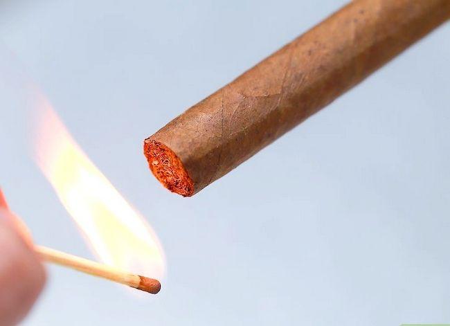 Prent getiteld Lig `n sigaar Stap 2