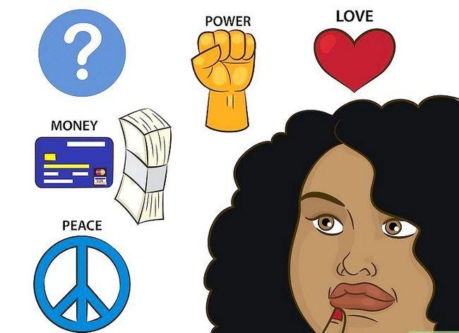 Prent getiteld Vind liefde, vrede en geluk Stap 1