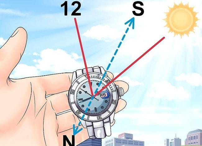 Prent getiteld Find True North sonder kompas Stap 23