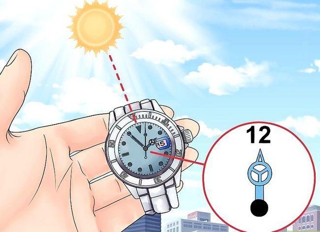 Prent getiteld Find True North sonder kompas Stap 24