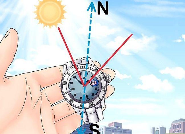 Prent getiteld Find True North sonder kompas Stap 25