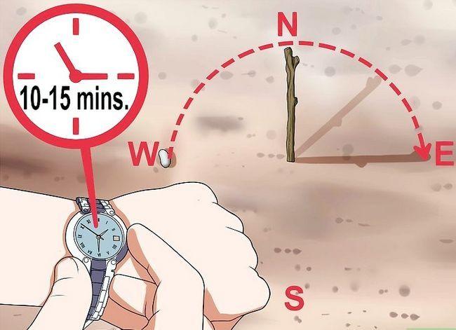 Prent getiteld Find True North sonder kompas Stap 3