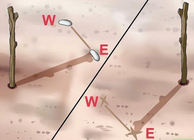 Prent getiteld Find True North sonder kompas Stap 5