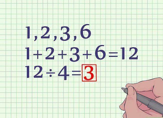 Prent getitel Vind die gemiddelde van `n groep getalle Stap 2
