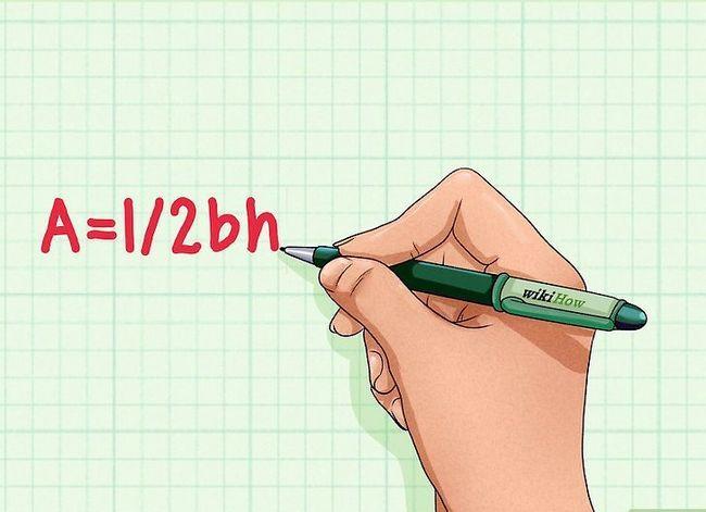 Prent getitel Vind die hoogte van `n driehoek Stap 1