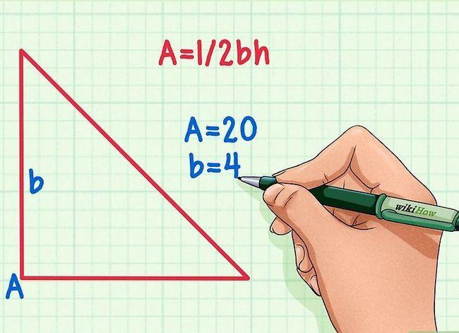 Prent getitel Vind die hoogte van `n driehoek Stap 2