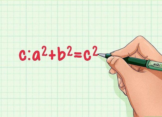 Prent getitel Vind die hoogte van `n driehoek Stap 5