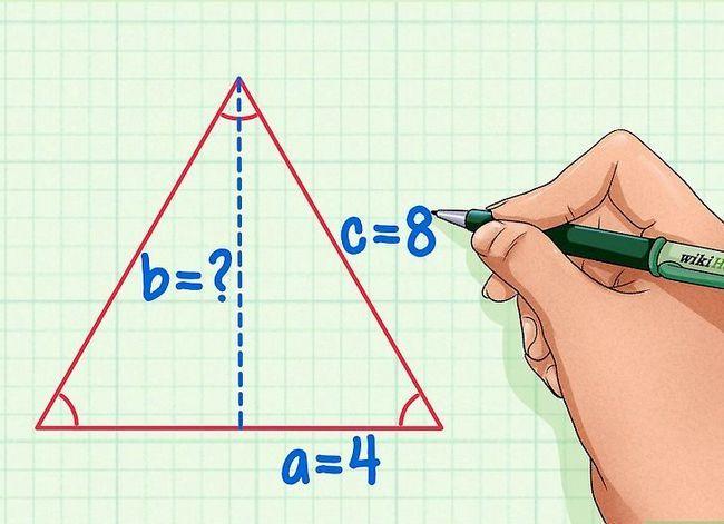 Prent getitel Vind die hoogte van `n driehoek Stap 6