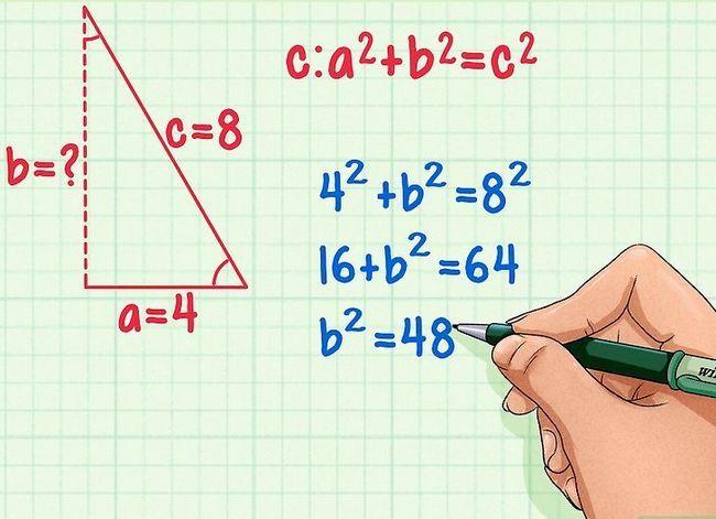 Prent getitel Vind die hoogte van `n driehoek Stap 7