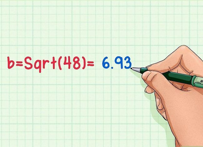 Prent getitel Vind die hoogte van `n driehoek Stap 8