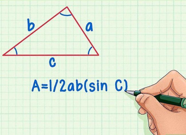 Prent getitel Vind die hoogte van `n driehoek Stap 9