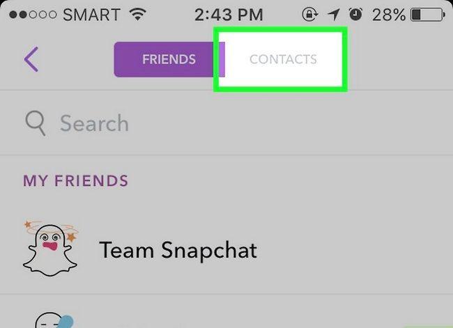 Prent getiteld Soek mense op Snapchat Stap 4