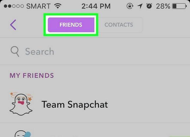 Prent getiteld Soek mense op Snapchat Stap 7