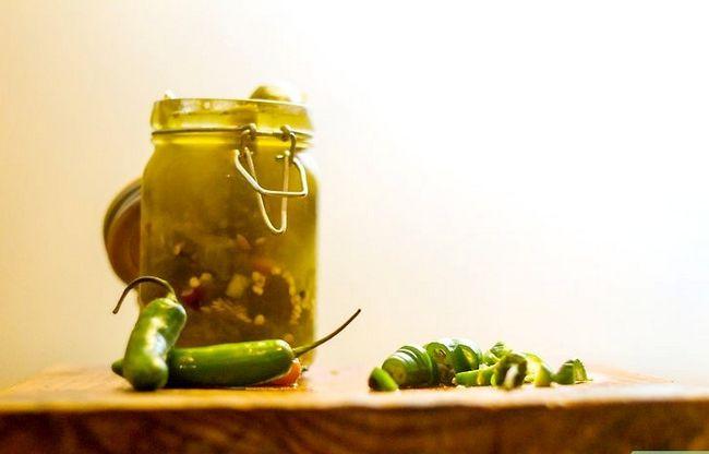 Prent getiteld Pickle Jalapeños Stap 7