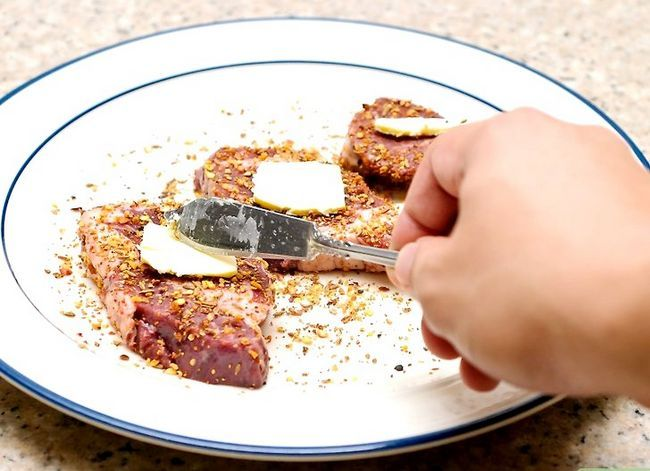 Prent getiteld Blacken Steak Stap 8