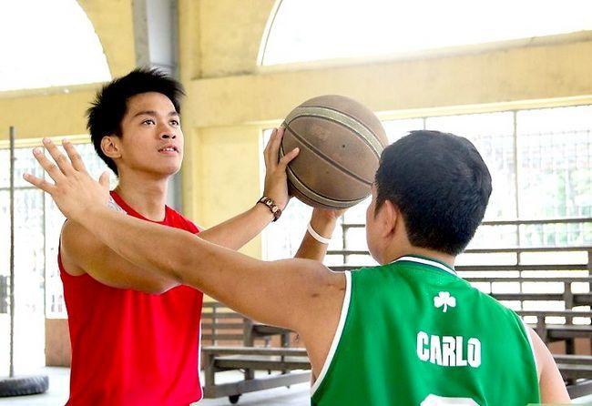 Prent getiteld Wees `n Goeie Basketbalspan Speler Stap 3