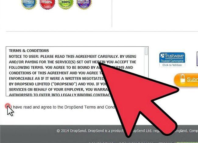 Prent getiteld Stuur groot video lêers met DropSend.com Stap 3