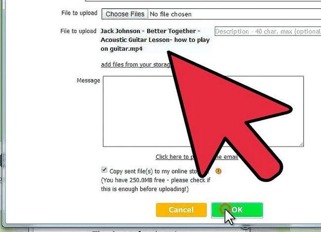 Prent getiteld Stuur groot video lêers met DropSend.com Stap 6