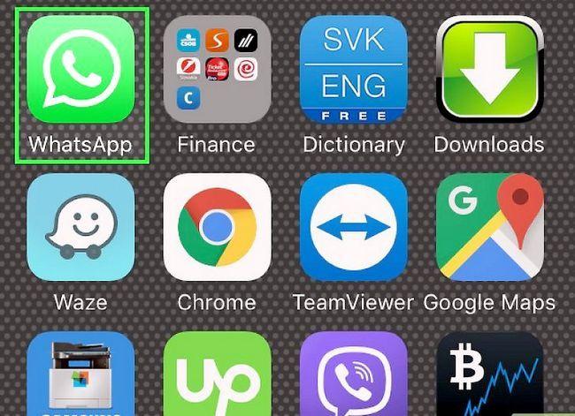 Prent getiteld Stuur plakkers in WhatsApp Stap 1