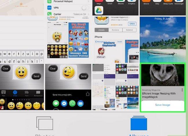 Beeld getiteld Stuur plakkers in WhatsApp Stap 11