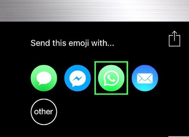 Prent getiteld Stuur plakkers in WhatsApp Stap 6