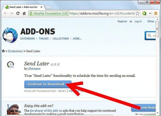 Beeld getiteld Stuur `n e-pos by `n spesifieke tyd in die toekoms met behulp van Mozilla Thunderbird Stap 1