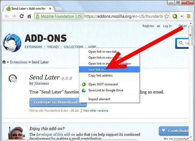 Prent getiteld Stuur `n e-pos by `n spesifieke tyd in die toekoms. Gebruik Mozilla Thunderbird Stap 2