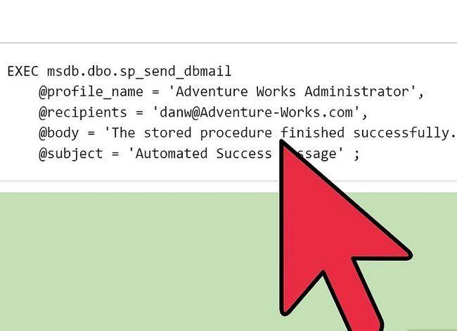 Prent getiteld Stuur `n geskeduleerde HTML-verslag direk vanaf SQL Server Stap 5