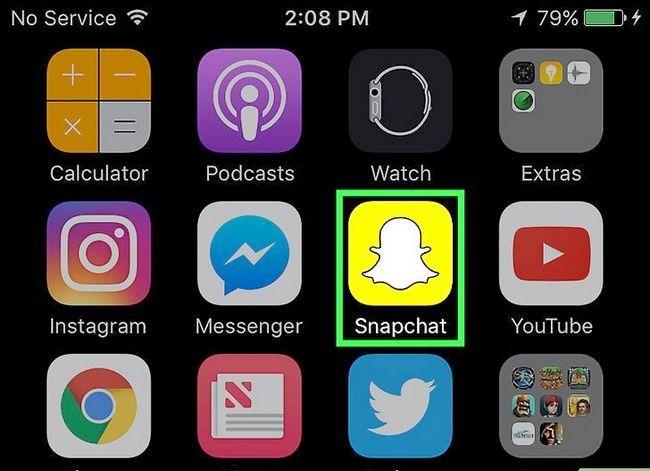 Prent getiteld Stuur `n gestoor Snapchat Stap 1