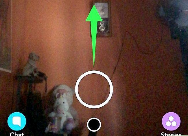 Prent getiteld Stuur `n gestoor Snapchat Stap 2