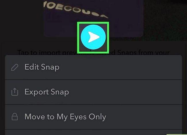 Prent getiteld Stuur `n gestoor Snapchat Stap 4
