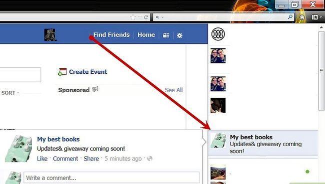 Beeld getiteld Stuur `n update na Facebook Page Fans Stap 1
