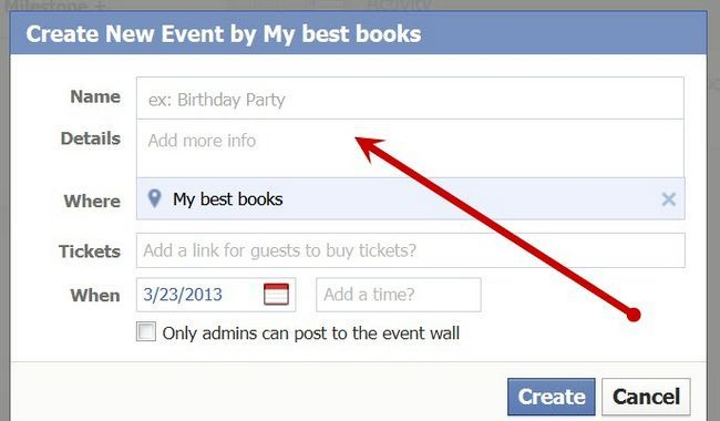Beeld getiteld Stuur `n update na Facebook Page Fans Stap 7