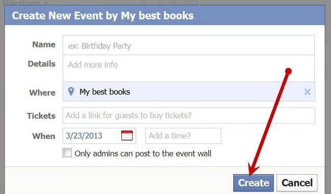 Beeld getiteld Stuur `n update na Facebook Page Fans Stap 8